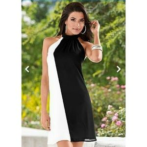 NEW Venus Low Back Halter Swing Dress